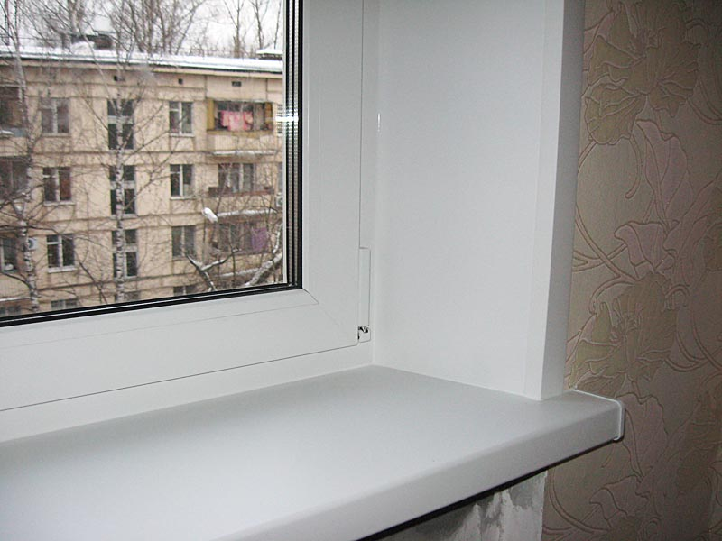 Installation of window shelves and pvc slopes